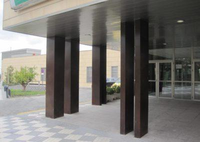 Recubrimiento de fachada de acero